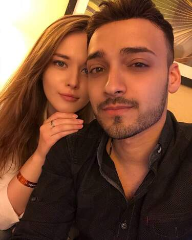 Karim Jovian with his wife vlada